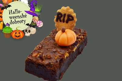 Halloweenské brownies